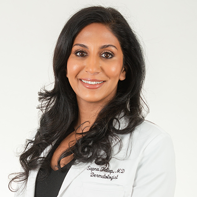 Headshot of Dr Sapna Palep Founder of Spring Street Dermatology and one of New York's leading board-certified dermatologists, New York City, NY.