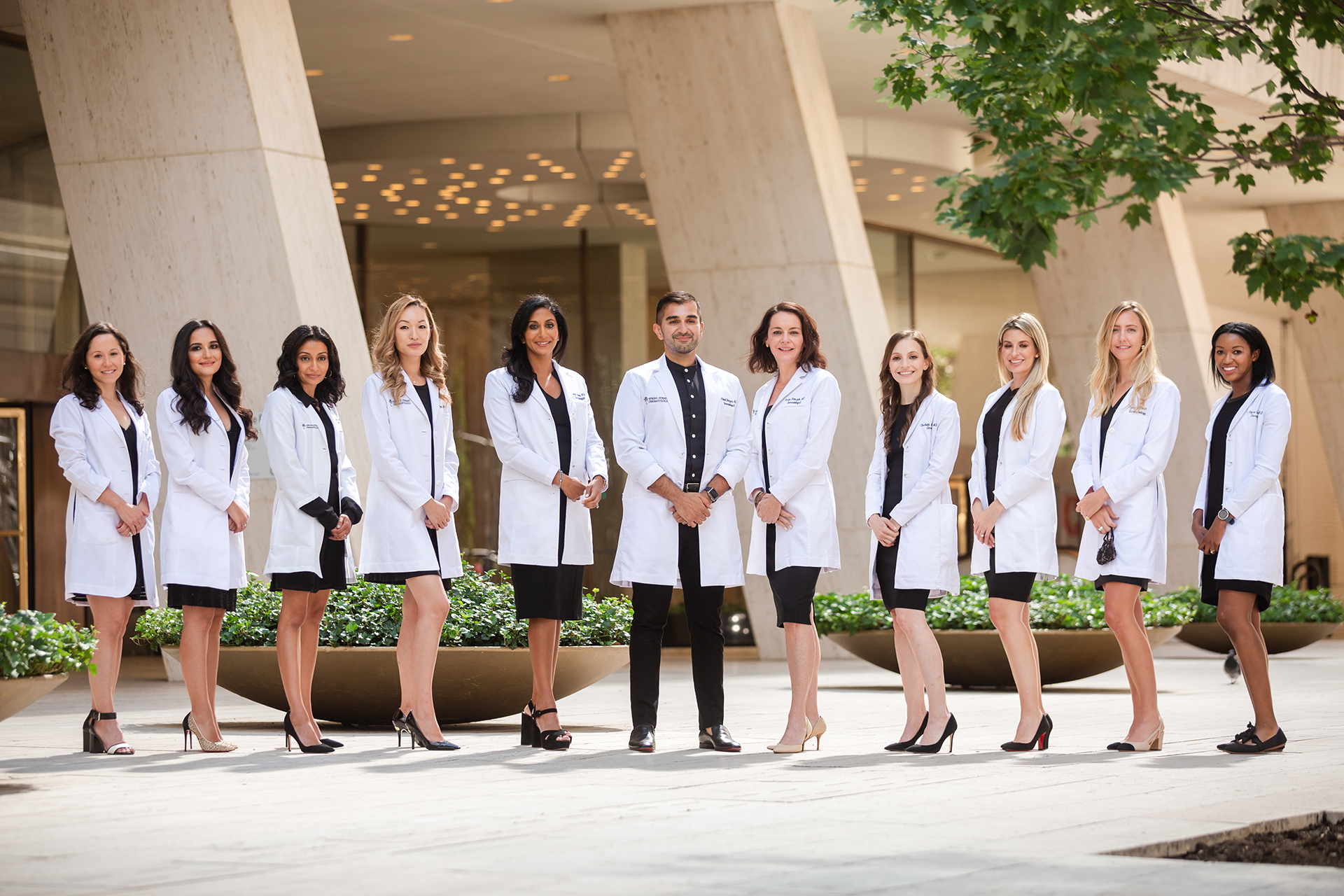 Dermatologists at Spring Street Dermatology posing for a group photo, New York City, NY