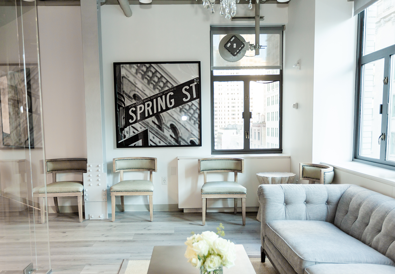Image of the waiting room of Spring Street Dermatology in Manhattan, NY