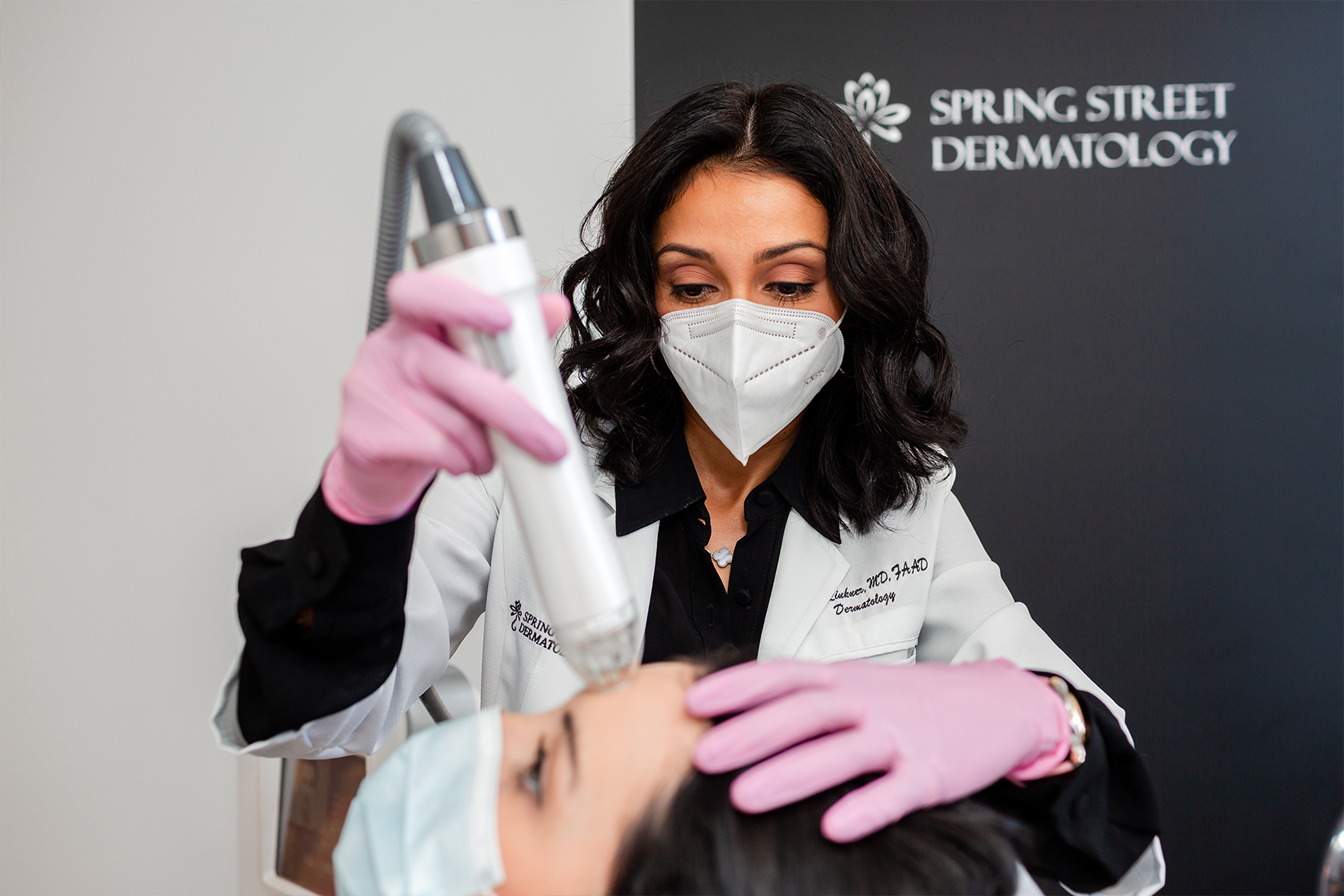 Microneedling treatment for forehead wrinkles